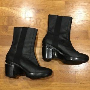 Cole Haan NikeAir High Heeled Black Chelsea Boots